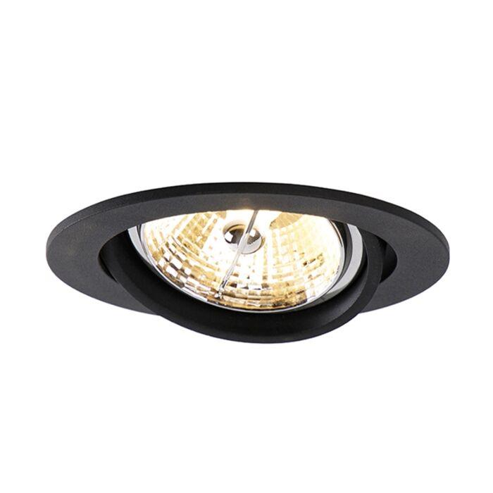 Foco-empotrable-moderno-negro-11,2cm-ajustable---CISCO