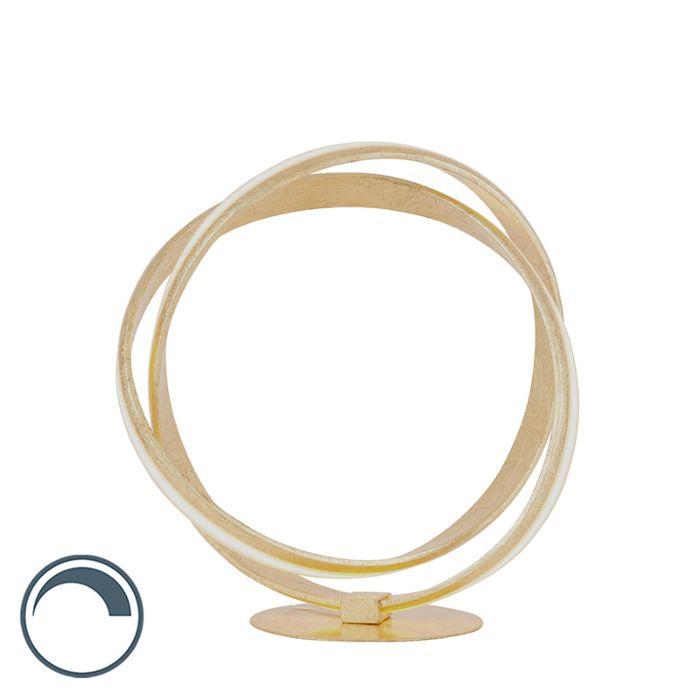 Lámpara-de-mesa-diseño-dorado-regulador-LED---BELINDA-