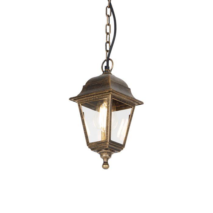 Lámpara-colgante-clásica-oro-envejecido-IP44---CAPITAL