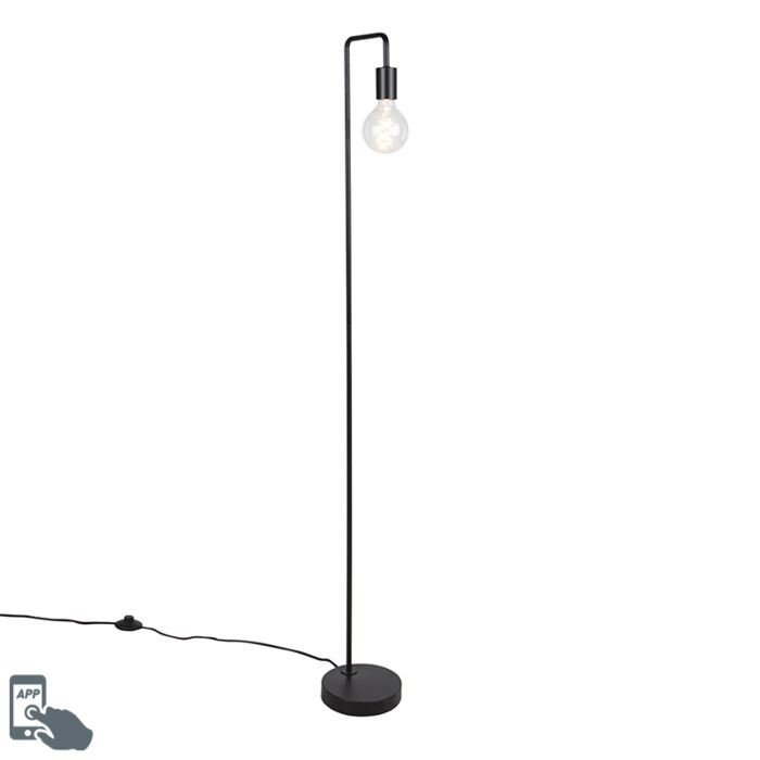 Lámpara-de-pie-negra-bombilla-WiFi-G125---FACIL