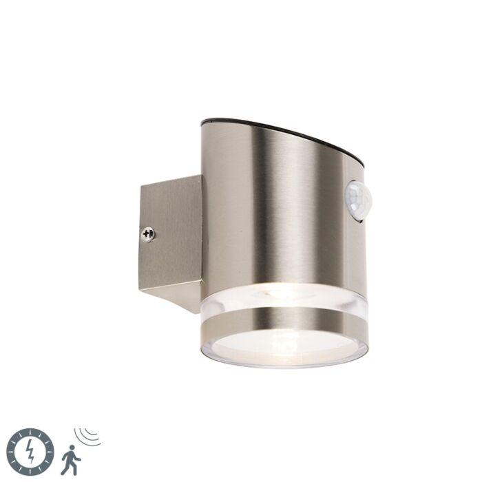 Aplique-exterior-gris-sensor-movimiento-IP44-solar---SALINA