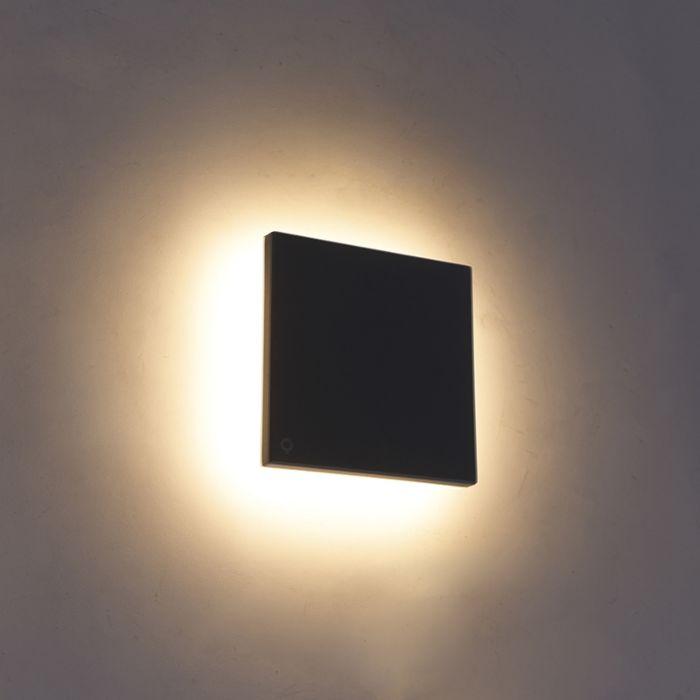 Aplique-diseño-gris-15cm-LED-IP54---SKYF