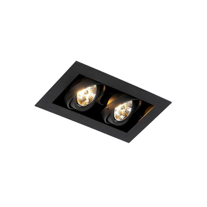 Foco-empotrable-moderno-negro-2-luces-orientable---ONEON-70