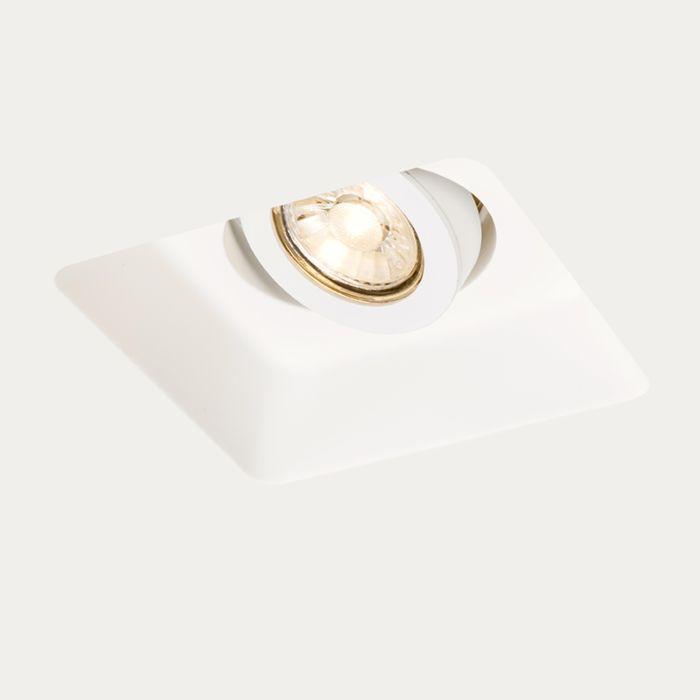 Foco-empotrado-blanco-cuadrado-orientable-15cm---GYPSY-Stucco