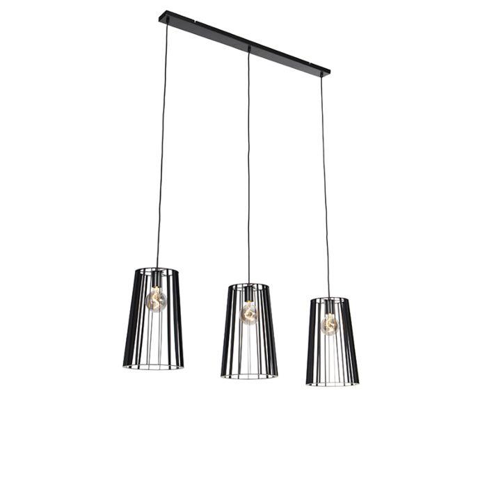 Lámpara-colgante-moderna-negra-3-luces---WIEZA