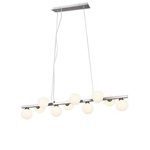 Lámpara-colgante-Art-Deco-acero-cristal-translúcido-10-luces---FON