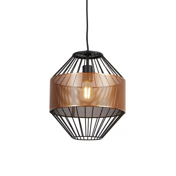 Lámpara-colgante-diseño-cobre/negro-30cm---MARISKA
