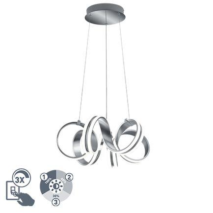 Lámpara-colgante-diseño-acero-regulable-3-pasos-LED---FILUM