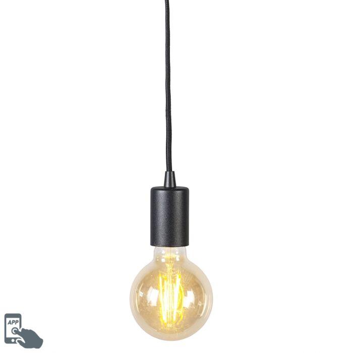 Lámpara-colgante-negra-bombilla-WiFi-G95---FACIL