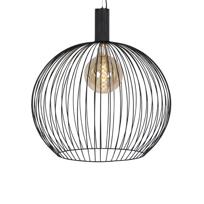 Lámpara-colgante-diseño-negra-70cm---WIRE-Dos