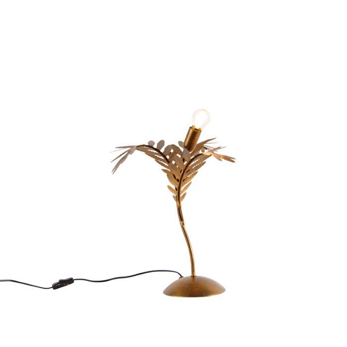 Lámpara-de-mesa-vintage-dorado-40-cm---BOTANICA