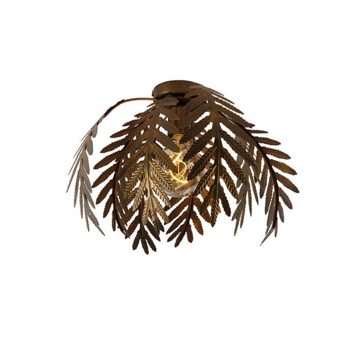 Plafón-vintage-dorado-34cm---BOTANICA