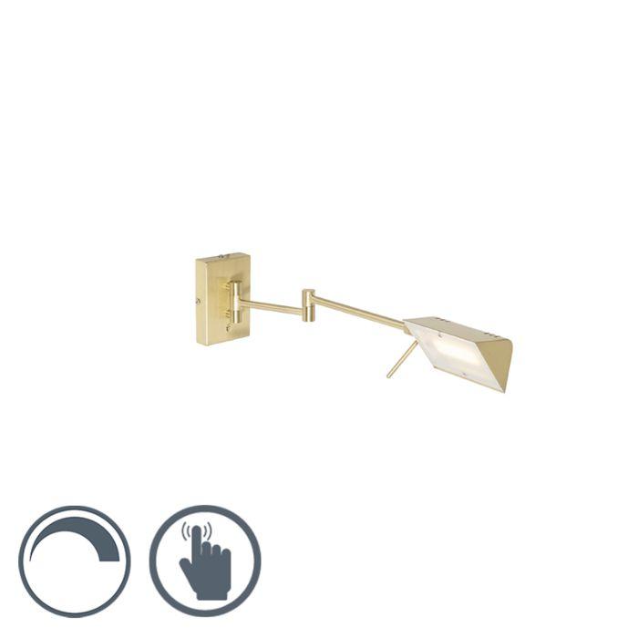 Aplique-moderno-dorado-LED-regulador-táctil---NOTIA