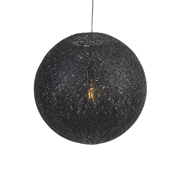 Lámpara-colgante-country-negra-60cm---CORDA