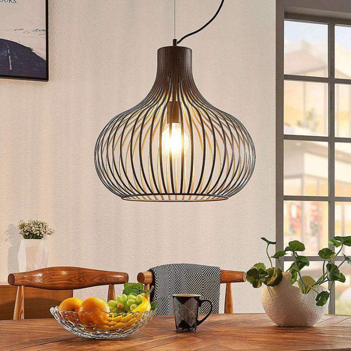 Lámpara-colgante-diseño-marrón-48cm---FRANCES