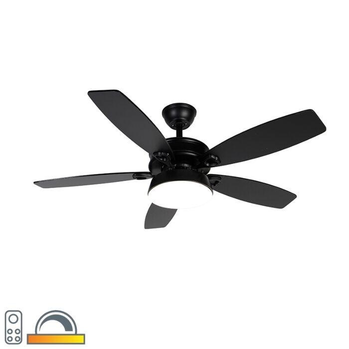 Ventilador-de-techo-negro-mando-distancia-LED---MALAKI