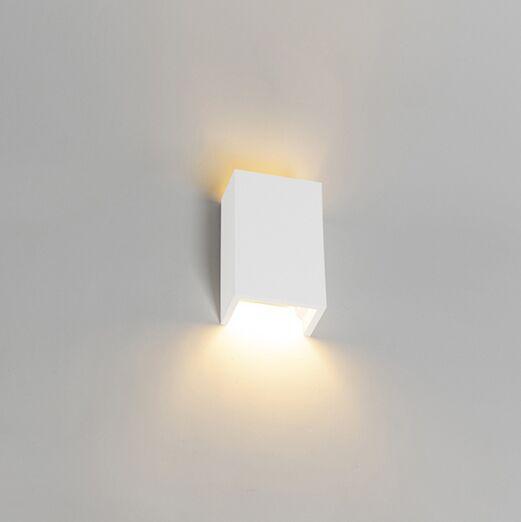 Landelijke-rechthoekige-wandlamp-gips---Colja-Novo