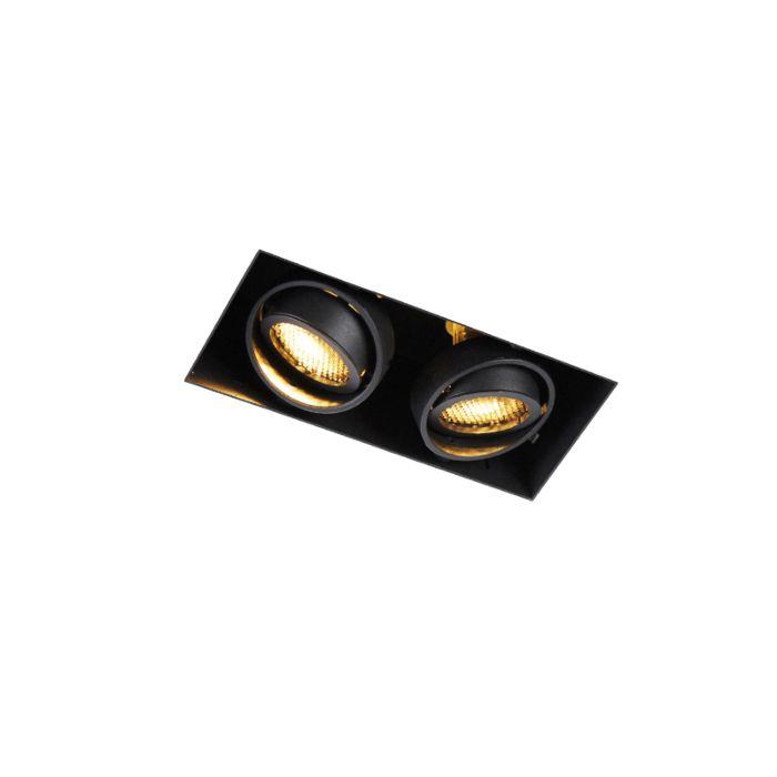 Foco-empotrado-negro-2-luces-orientable-sin-marco---ONEON-Honey