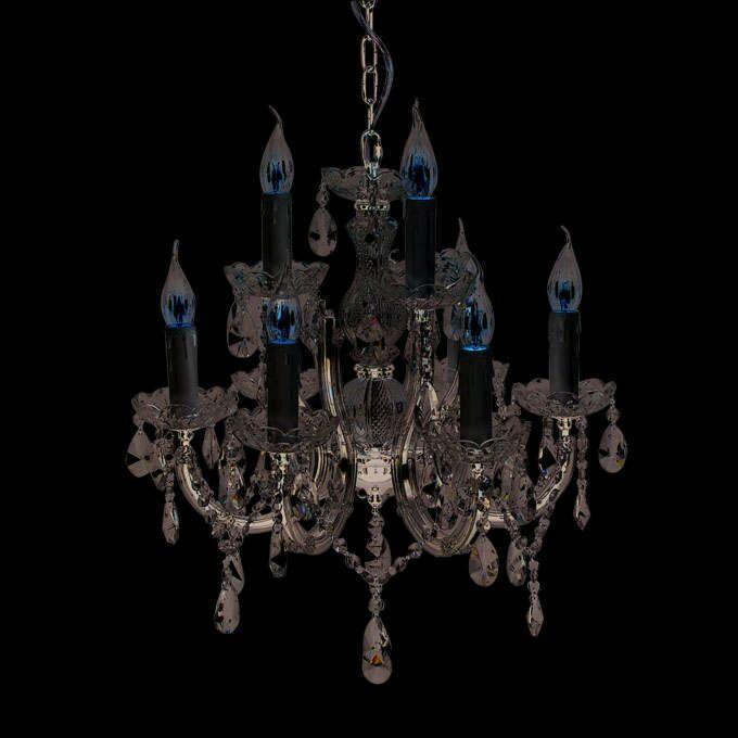 Lámpara-de-araña-MARIE-THERESA-6-cromo