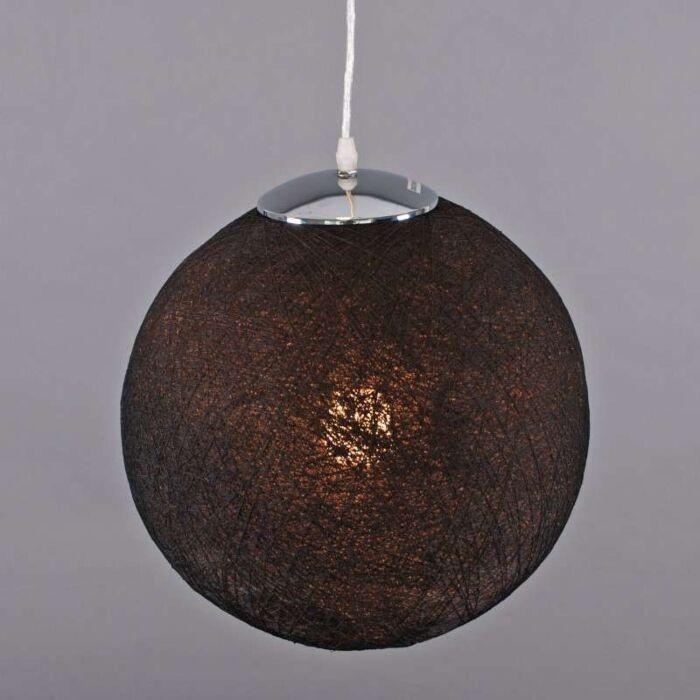 Lámpara-colgante-HEMP-35-negra