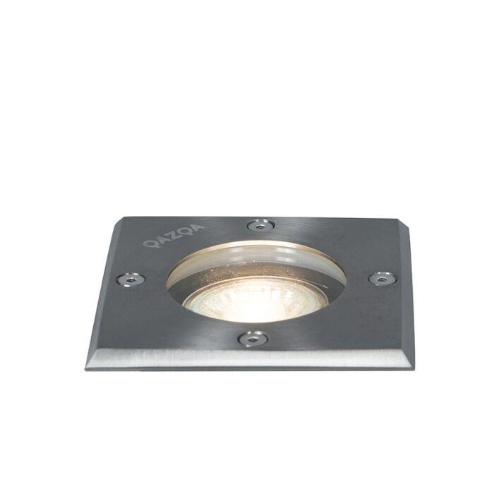 Foco-de-suelo-acero-10,5cm-IP65---BASIC-Square-