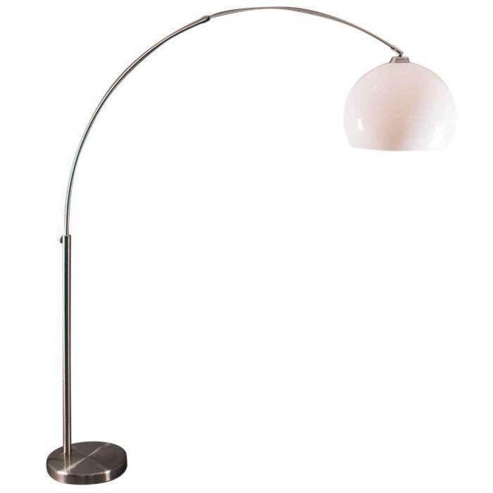 Lámpara-de-arco-acero-con-cubierta-blanca