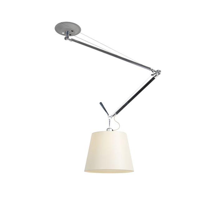 Lámpara-colgante-diseño-pantalla---ARTEMIDE-Tolomeo-Sospensione-Decentrata