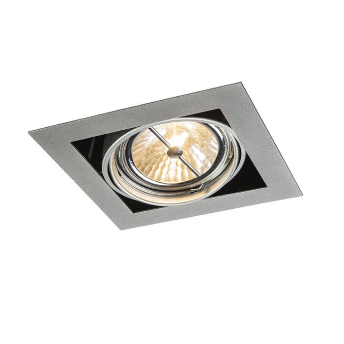Foco-empotrable-de-aluminio-cuadrado-ajustable-1-luz---Oneon-111-1
