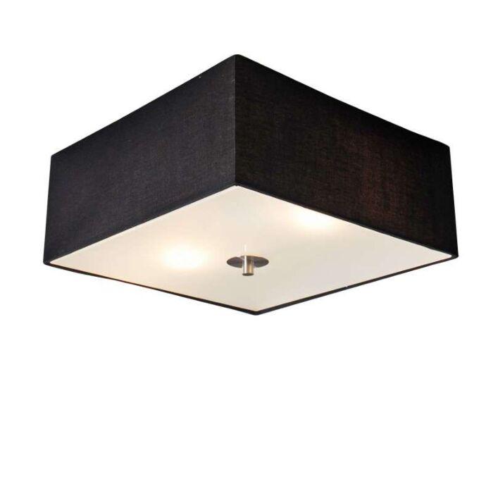 Plafón-DRUM-35-cuadrado-negro