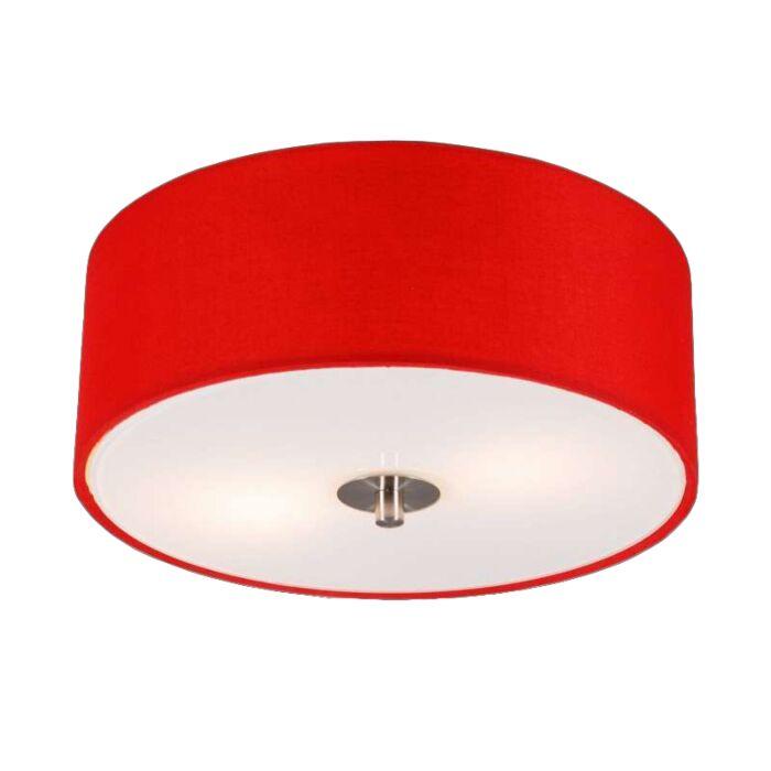 Plafón-moderno-rojo-30cm---DRUM