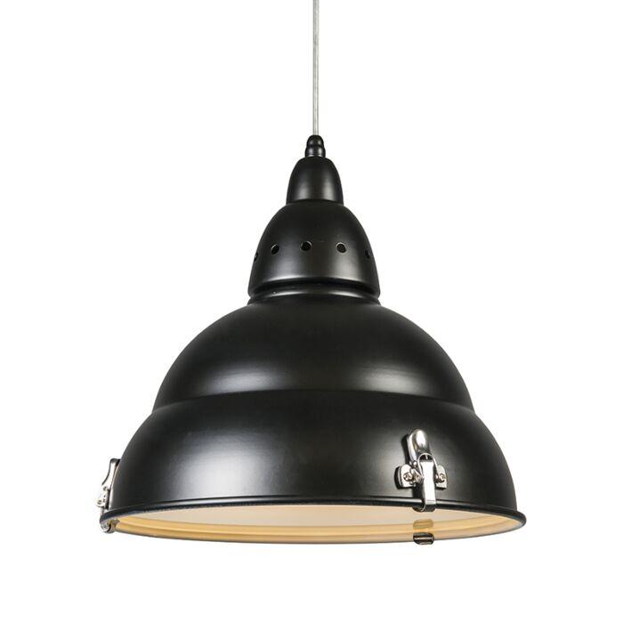 Lámpara-colgante-FACTORY-negra