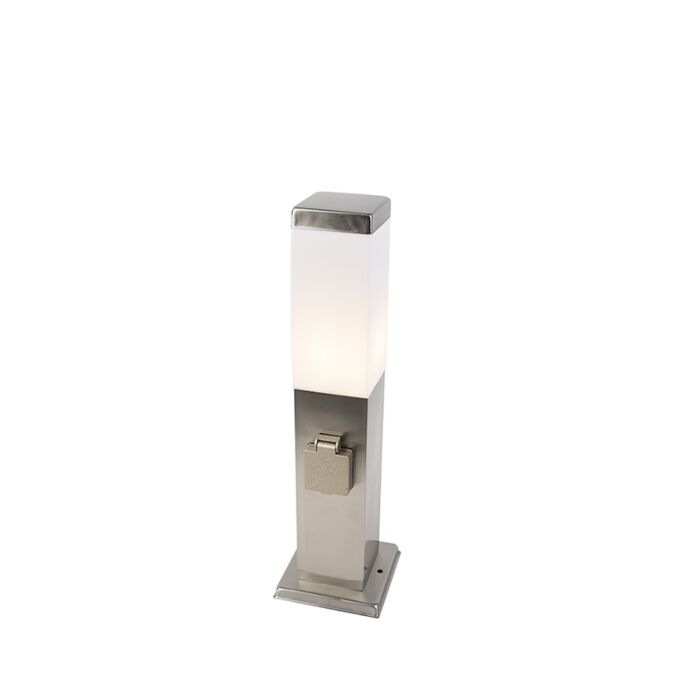 Baliza-moderna-45cm-acero-enchufe-IP44---MALIOS