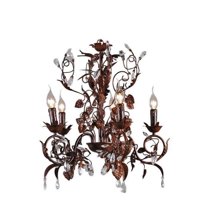 Lámpara-colgante-ROMANCE-5-luces-óxido