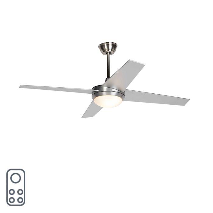 Ventilador-de-techo-plateado-con-control-remoto---Roar-52