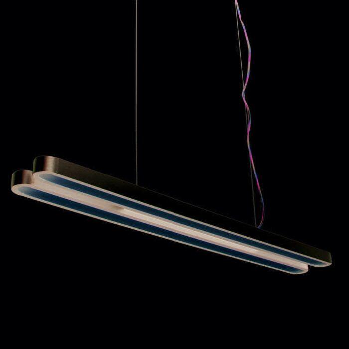 Lámpara-colgante-TUBE-U-Doble-28W-plata