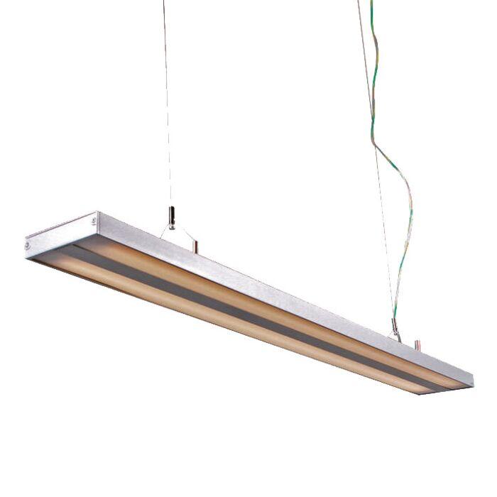 Lámpara-colgante-TUBE-S-plata-2-x-28W