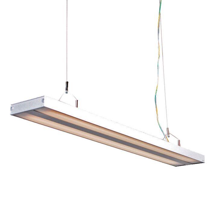 Lámpara-colgante-TUBE-S-plata-2-x-21W