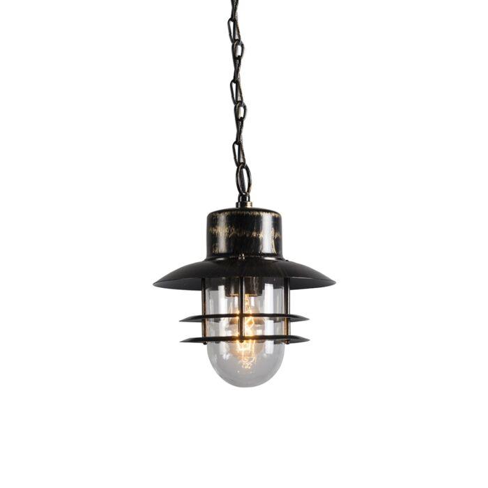 Lámpara-colgante-retro-bronce---SHELL-