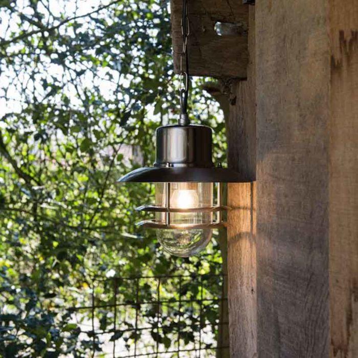 Lámpara-colgante-retro-acero---SHELL-