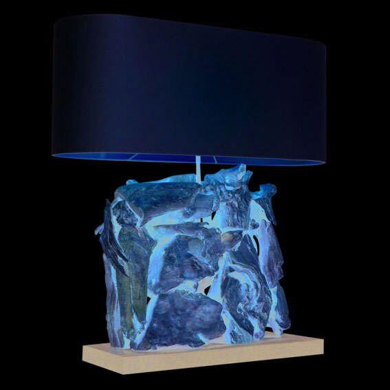 Lámpara-de-mesa-RAMAN-Recta-blanquedo-pantalla-crema