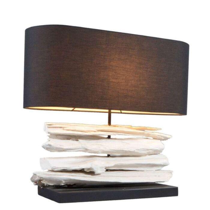 Lámpara-de-mesa-SATURN-mediana-con-cubierta-negra