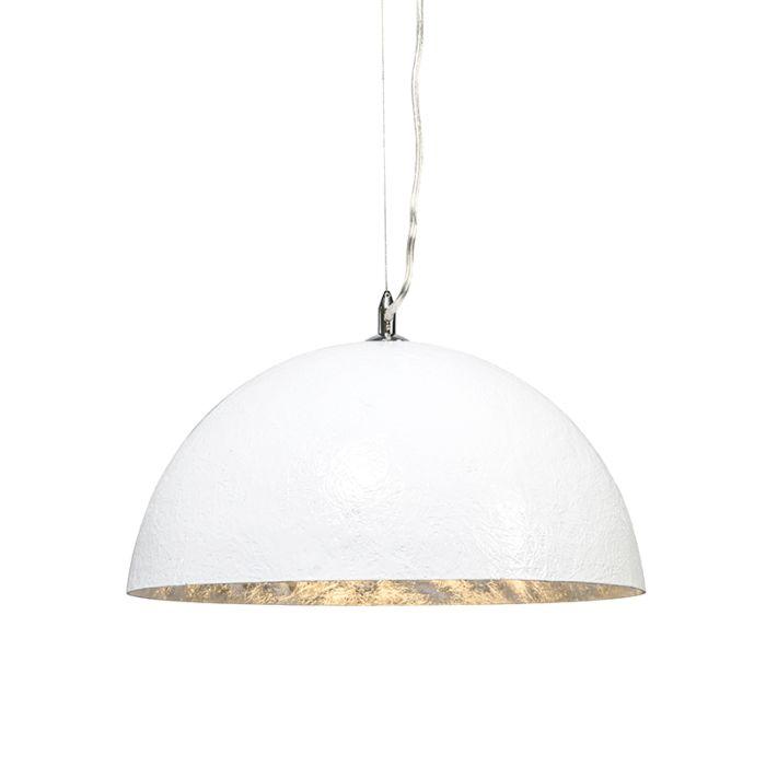 Lámpara-colgante-MAGNA-40-blanca---plata