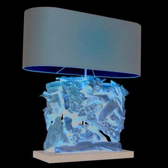 Lámpara-de-mesa-RAMAN-Recta-natural---pantalla-marrón
