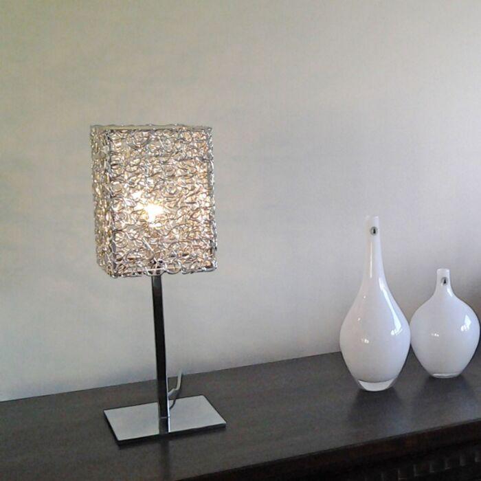 Lámpara-de-mesa-DRAHT-Square-L-aluminio