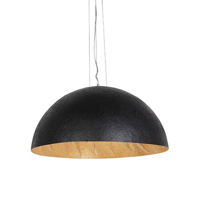 Lámpara-colgante-industrial-negra/oro-70cm---MAGNA