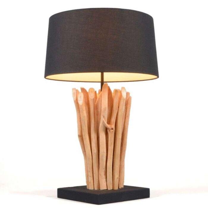 Lámpara-de-mesa-PHATOM-crema/negro