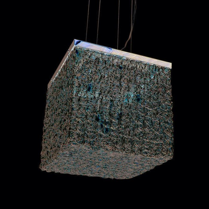 Lámpara-colgante-DRAHT-Square-10-aluminio