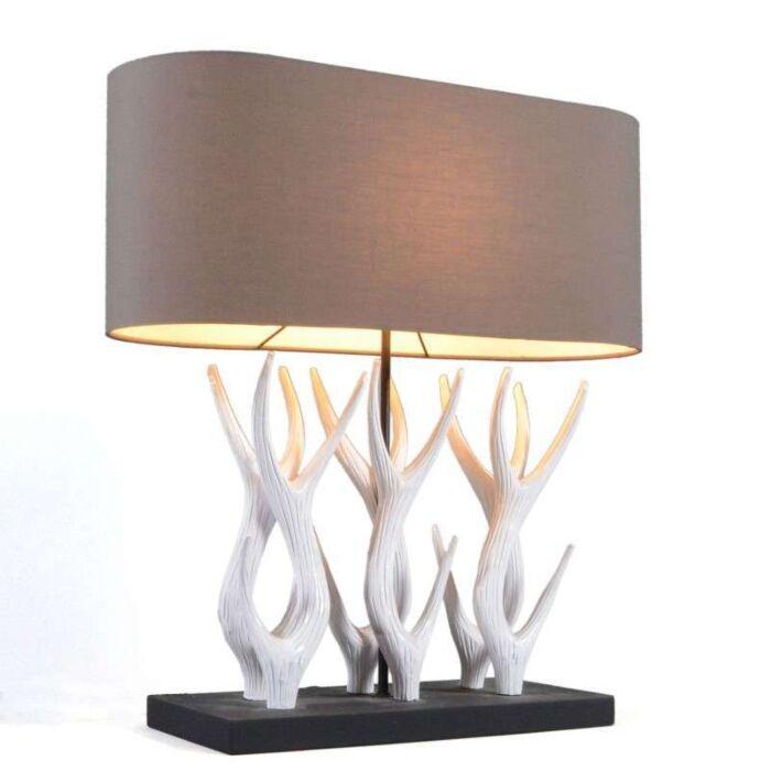 Lámpara-de-mesa-YINDEE-recta-blanca/-marrón