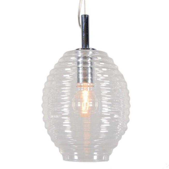 Lámpara-colgante-TREVISO-IV-cristal-transparente
