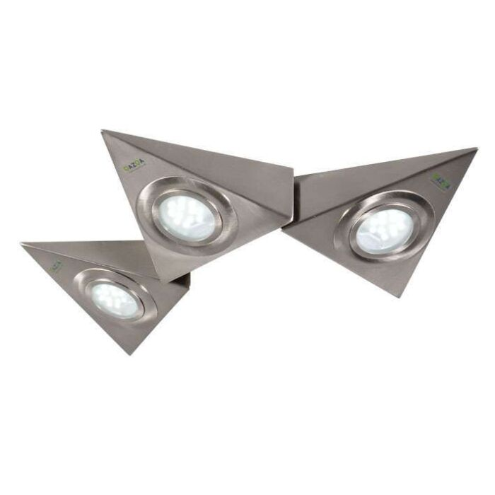 Juego-de-tres-luces-base-triangulas-K-TEUN-LED